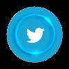 Logo Twitter 3d